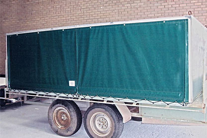 Customised trailer canopy to transport homing pigeons