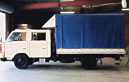 Truck canvas canopy