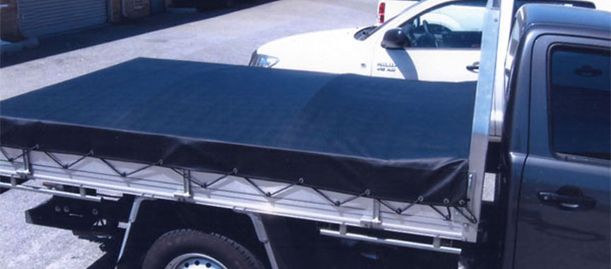 Standard tray back ute with tonneau ute canopy